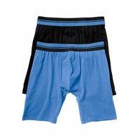 Długie bokserki (2 pary) czarny + niebieski marki Bonprix