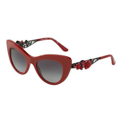 Okulary Słoneczne Dolce & Gabbana DG4302B FLOWER LACE 30888G, kolor żółty