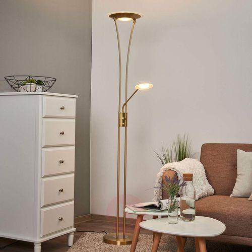 Lampenwelt.com Lampa stojąca eda, lampka do czytania, ściemniacz (4251096532357)