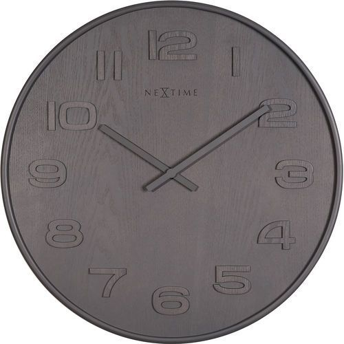 Zegar ścienny Wood Wood Medium, kolor szary