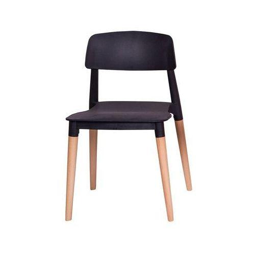 Modesto krzesło ecco czarne - polipropylen, podstawa bukowa marki Modesto design