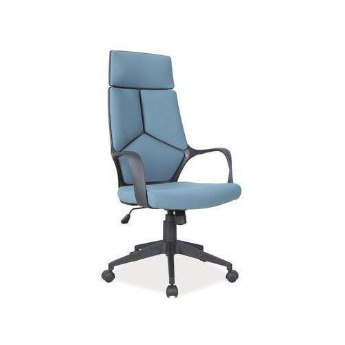 Fotel q-199 niebieski czarny marki Signal meble