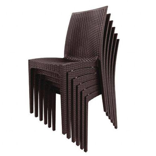 Krzesło | brązowe | 455mm | 4 szt. marki Bolero