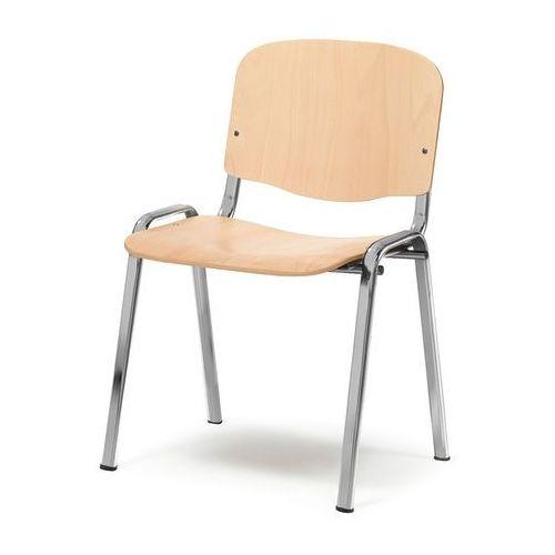 Krzesło drewniane Richmond buk chrom, kolor Krzesło