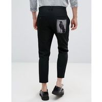 Religion Skinny Trousers With Back Patch - Black