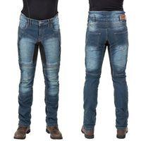 Męskie jeansowe spodnie motocyklowe wicho, niebieski, m marki W-tec