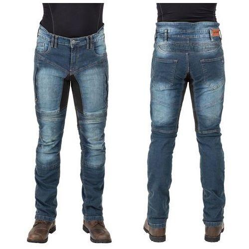 W-tec Męskie jeansowe spodnie motocyklowe wicho, niebieski, xl