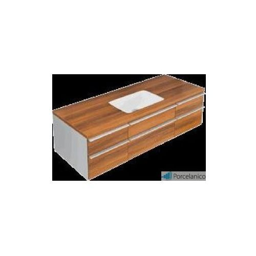 V&b shape, szafka podumywalkowa, 1350 x 410 x 500 mm, umywalka po srodku, merano a520eheh marki Villeroy&boch