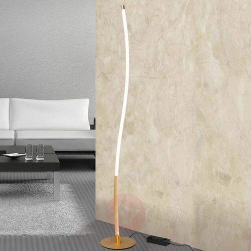 Lampa stojąca LED Alen w złotym kolorze