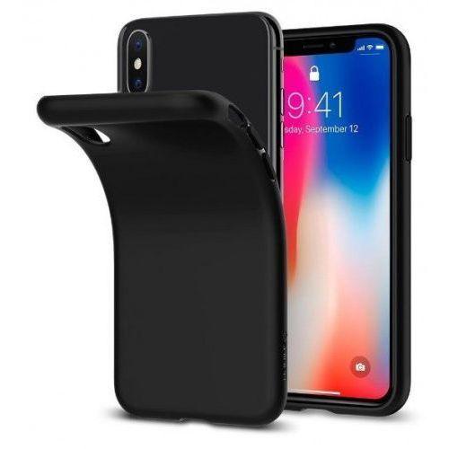 liquid matte black etui iphone x marki Spigen sgp