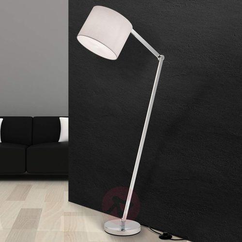Lampa stojąca artak z abażurem z białego lnu marki Orion