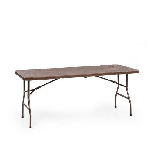 Blumfeldt Burgos Family, stół składany, technorattan, blat, 178 x 73 cm, 6 os., brązowy (4060656154096)