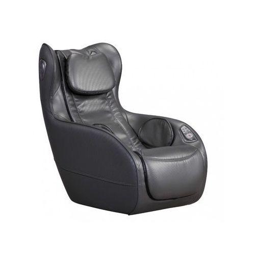 Fotel do masażu ADRASTEE ze skóry syntetycznej — opcja Bluetooth — antracytowy, kolor niebieski