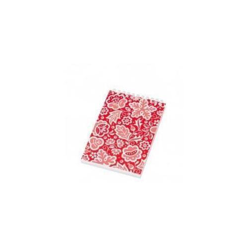 Notes FOLK na spirali-format A6-kujawski czerwony