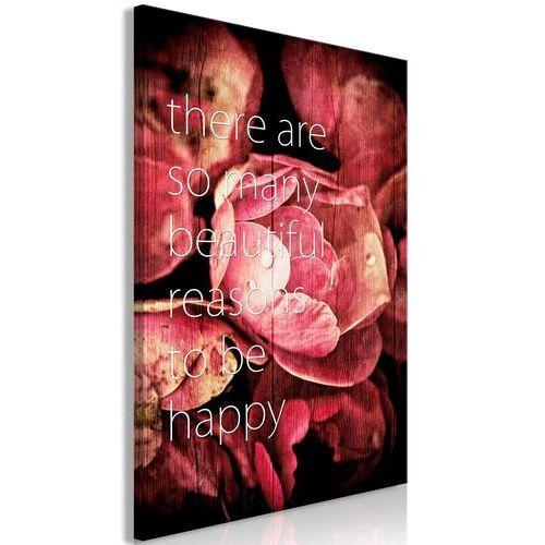 Obraz - there are so many beautiful reasons to be happy (1-częściowy) pionowy marki Artgeist