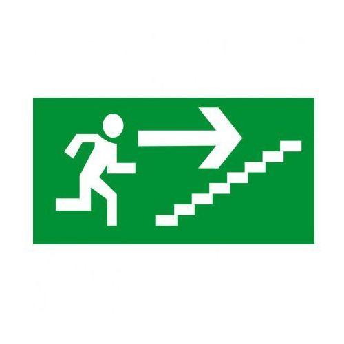 Kierunek drogi ewakuacyjnej schodami w górę w prawo marki B2b partner