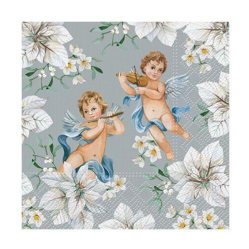 Serwetki świąteczne angels in flowers 33 x 33 cm 20 szt. marki Paw decor
