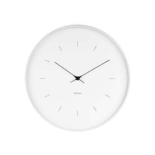 Zegar ścienny Butterfly biały 37,5 cm, kolor biały