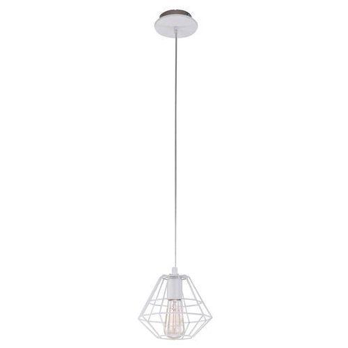 Lampa wisząca druciana zwis żyrandol diament TK Lighting Diamond 1x60W E27 biała 697 (5901780506971)