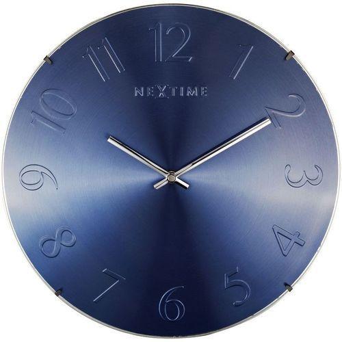 NeXtime - Zegar ścienny Elegant Dome - niebieski