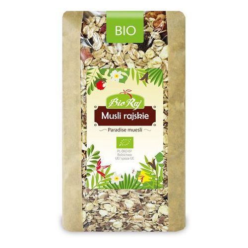 Musli rajskie bio 700 g - bio raj marki Bio raj (konfekcjonowane)