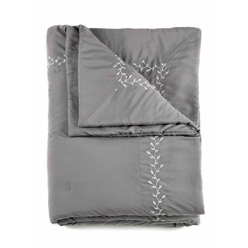 Bonprix Narzuta na łóżko z haftem szary