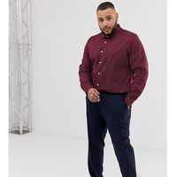 River island big & tall skinny smart trousers in navy - navy