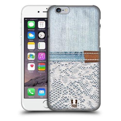 Etui plastikowe na telefon - Jeans and Laces WHITE LACE ON LIGHT DENIM