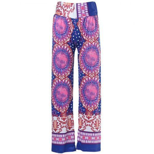 Ethnic style mid-waisted geometric pattern loose-fitting exumas pants for women marki Rosewholesale