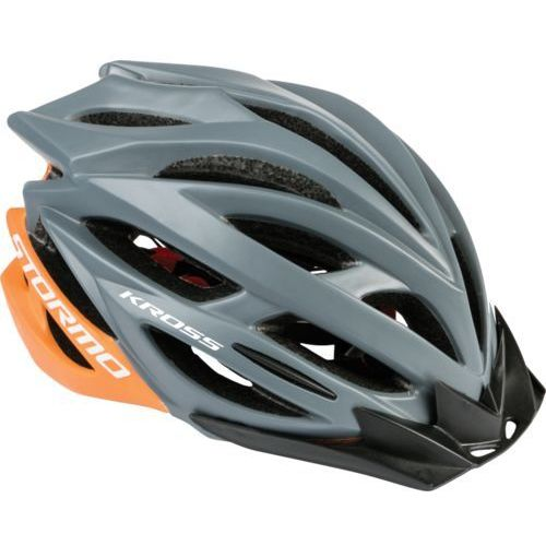 Kask rowerowy stormo l 58-61cm szary/pomarańczowy marki Kross