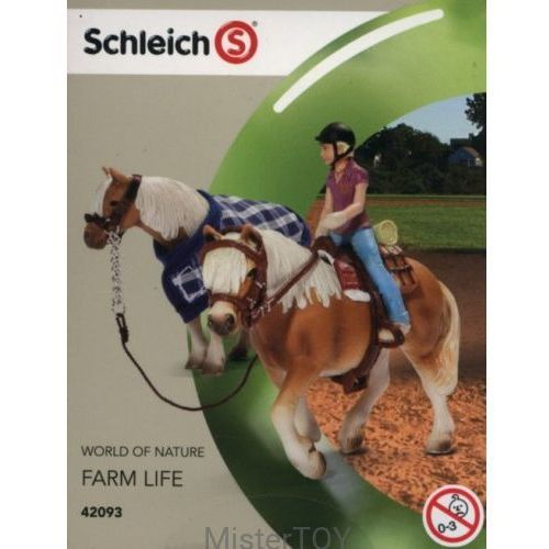 Schleich , zestaw do jazdy konnej