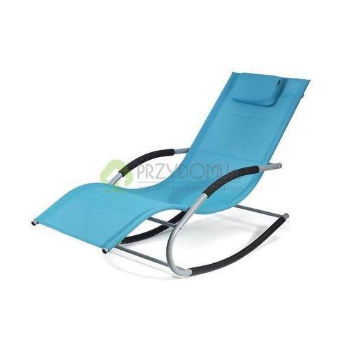 Fotel bujany leżak BERGAMO niebieski