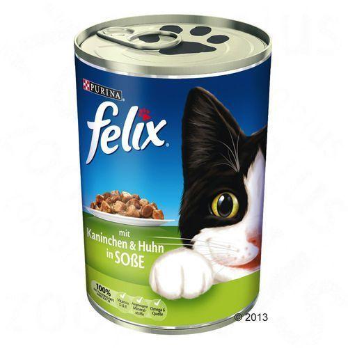 Purina Felix adult wołowina z indykiem w sosie 400g puszka