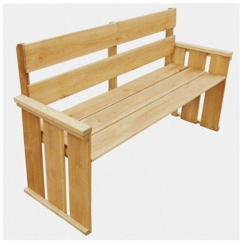 Edinos premium Drewniana ławka ogrodowa uter - brązowa
