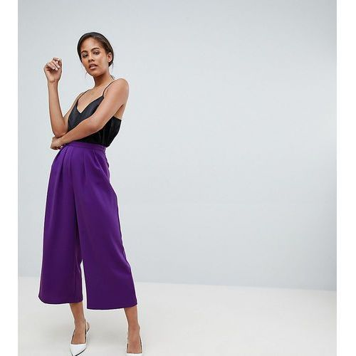 Asos design tall tailored large pleat culottes - purple marki Asos tall