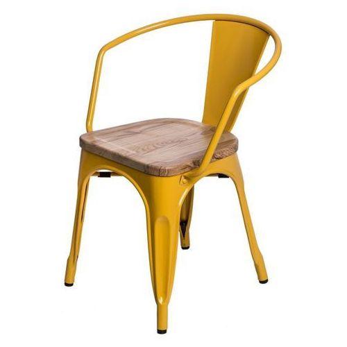 Krzesło Paris Arms Wood sosna naturalna - żółty