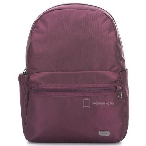 """Pacsafe Daysafe plecak damski antykradzieżowy - laptop 13"""" / fioletowy - Blackberry"""