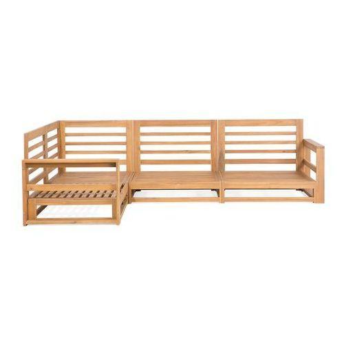 Beliani Meble ogrodowe z drewna akacjowego brązowe timor (7105278403508)