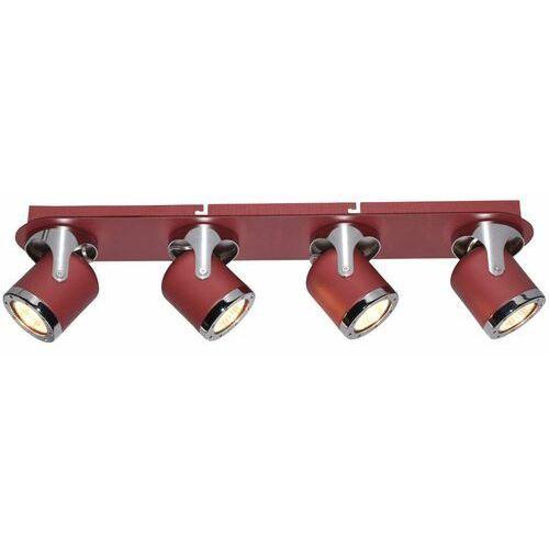 Regulowana LAMPA sufitowa APRIL 5040 Rabalux metalowa OPRAWA reflektorki czerwone chrom