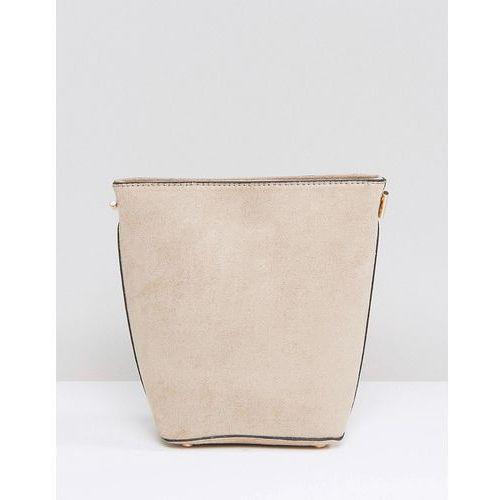 New Look Chain Suedette Bucket Bag - Beige