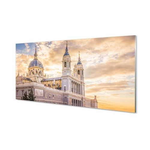 Obrazy na szkle Hiszpania Katedra zachód słońca