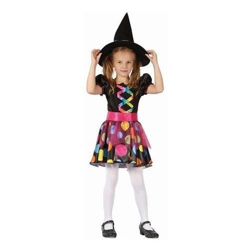 Strój czarownica w grochy rozmiar 130/140 cm marki Godan