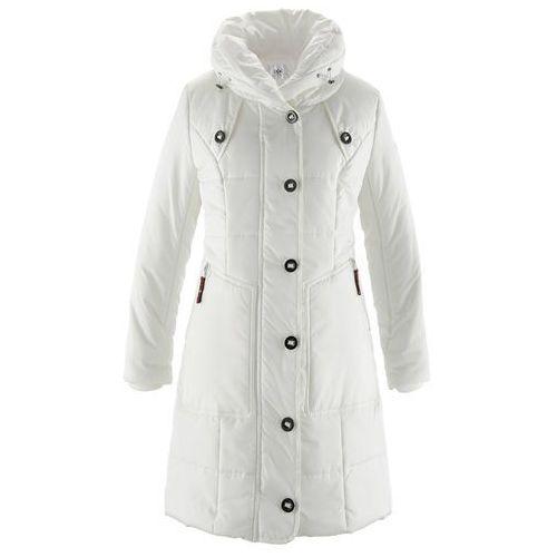 Płaszcz pikowany  biel wełny marki Bonprix
