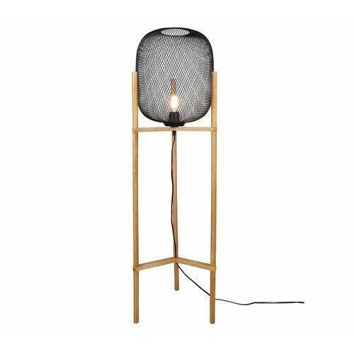 Trio RL Calimero R40561032 lampa stojąca podłogowa 1x40W E27 czarna/drewniana (4017807489477)