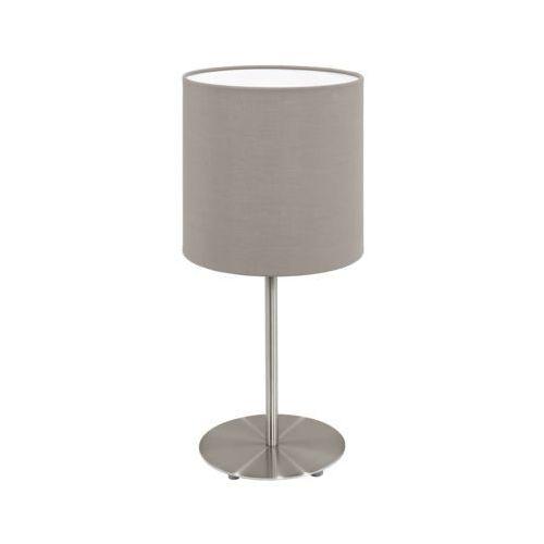 Lampka stołowa pasteri 31595 z abażurem 1x60w e27 ciemno szary marki Eglo