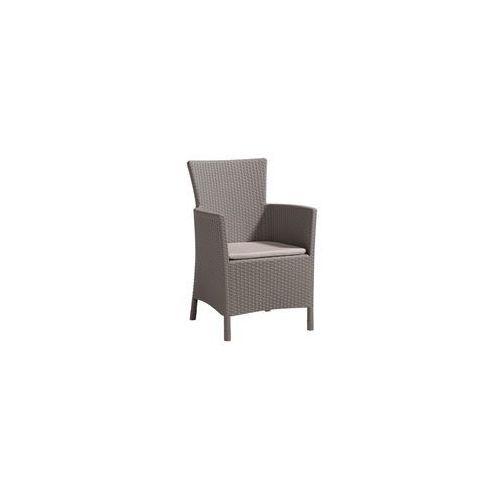 """krzesło ogrodowe """"iowa"""" cappuccino 215519 marki Allibert"""