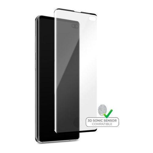 PURO Premium Full Edge Tempered Glass Case Friendly - Szkło ochronne hartowane na ekran Samsung Galaxy S10 + (czarna ramka), kolor czarny