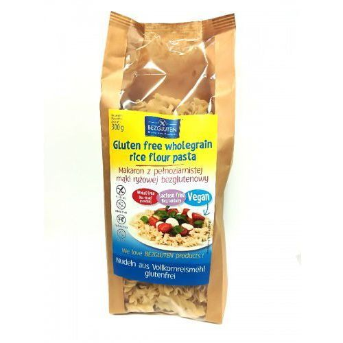 Makaron z pełnoziarnistej mąki ryżowej bezglutenowej 300g Bezgluten (5906720574928)