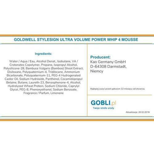 Goldwell style sign ultra volume power whip pianka do włosów 300 ml dla kobiet