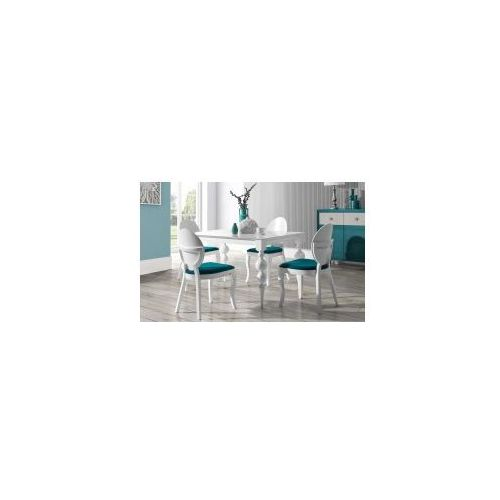 Stół Laurel White/Black 80x140/190